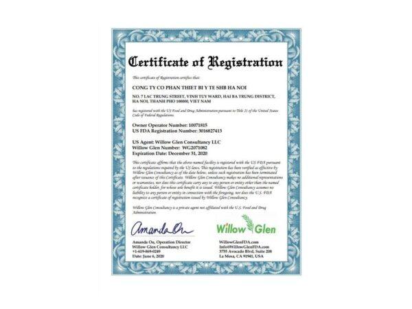 Certifikat Kenko rouska 4 vrstvove